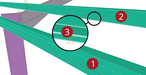 The order to select Tekla Structures model when adding CMF Eaves Brace (54)