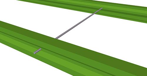 Tekla Structures model after adding Duggan Steel Apex Tie