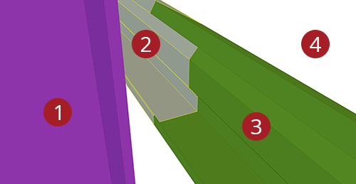The order to select Tekla Structures model when adding Duggan Steel Eaves Beam to Stanchion