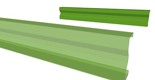 Tekla Structures model before adding Duggan Steel Non-Standard Anti-Sag connection