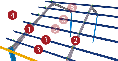 The order to select Tekla Structures model when adding Kingspan Standard Tie Bay (10)