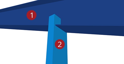 The order to select Tekla Structures model when adding Kingspan Gable Post Shear Plate (105)