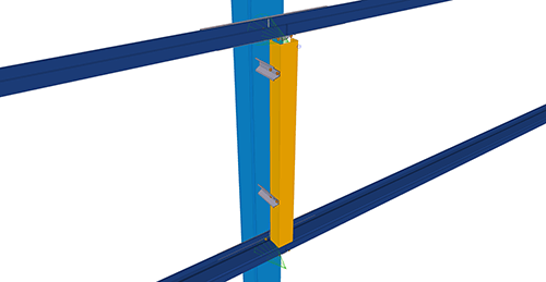 Tekla Structures model after adding Kingspan Panel Joint at Column (11)