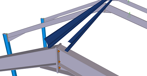 Tekla Structures model before adding Kingspan Apex Tie Bay (12)