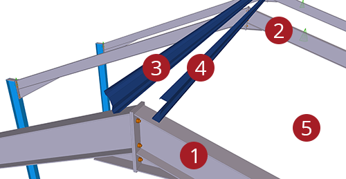 The order to select Tekla Structures model when adding Kingspan Apex Tie Bay (12)
