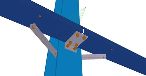 Tekla Structures model after adding Kingspan Horizontal Cladding Sleeve (120)