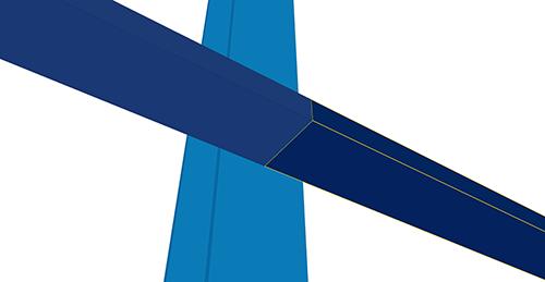 Tekla Structures model before adding Kingspan Horizontal Cladding Sleeve (120)