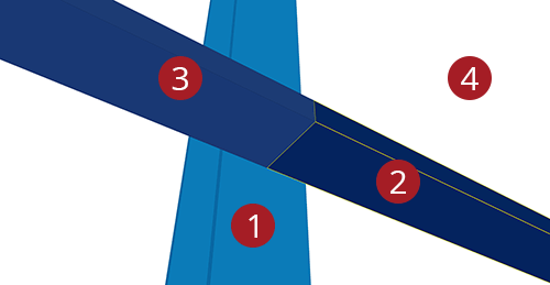 The order to select Tekla Structures model when adding Kingspan Horizontal Cladding Sleeve (120)