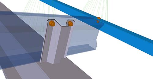 Tekla Structures model after adding Kingspan Cleader Angle (13)