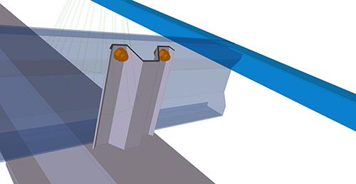 Tekla Structures model before adding Kingspan Cleader Angle (13)