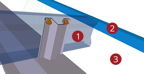 The order to select Tekla Structures model when adding Kingspan Cleader Angle (13)