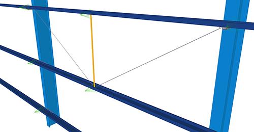 Tekla Structures model after adding Kingspan Diagonal Ties (15)