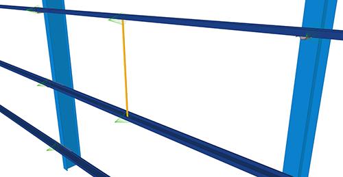Tekla Structures model before adding Kingspan Diagonal Ties (15)