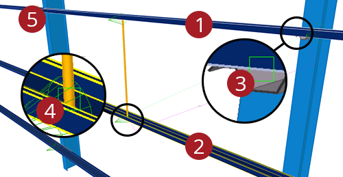 The order to select Tekla Structures model when adding Kingspan Diagonal Ties (15)