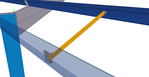 Tekla Structures model after adding Kingspan Eaves Brace (16)