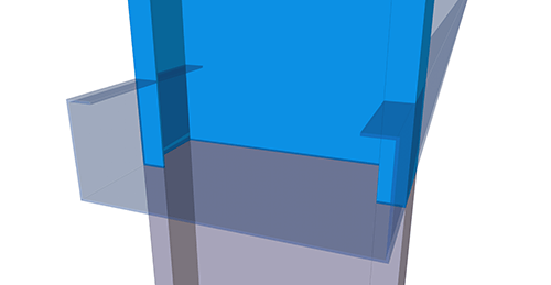 Tekla Structures model before adding Kingspan Autoform Two Sided (22)