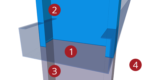 The order to select Tekla Structures model when adding Kingspan Autoform Two Sided (22)