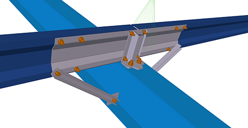 Tekla Structures model after adding Kingspan Cold Rolled Sleeved (28)
