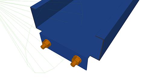 Tekla Structures model after adding Kingspan Autoform Detail (3)