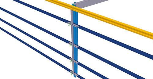 Tekla Structures model after adding Kingspan Horizontal Cladding Support Column (33)