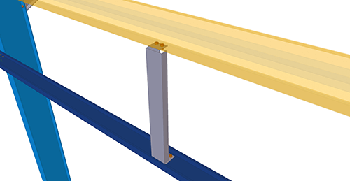 Tekla Structures model after adding Kingspan Non-Standard Horizontal Cladding Support (34)