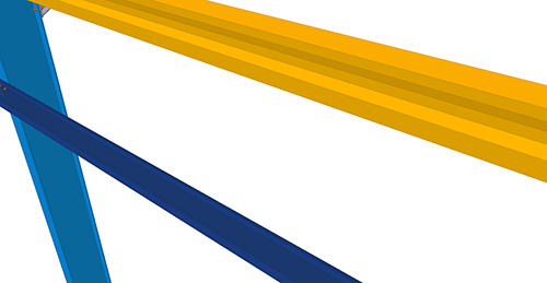 Tekla Structures model before adding Kingspan Non-Standard Horizontal Cladding Support (34)
