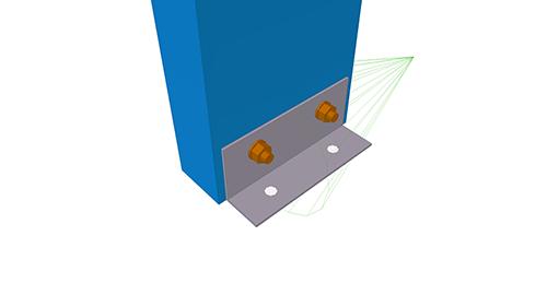 Tekla Structures model after adding Kingspan Multichannel Base Cleat (4)
