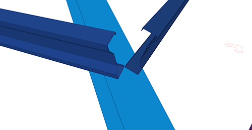 Tekla Structures model before adding Kingspan Shear Plate to Hip (8)