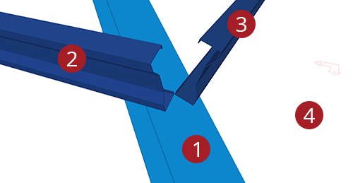 The order to select Tekla Structures model when adding Kingspan Shear Plate to Hip (8)