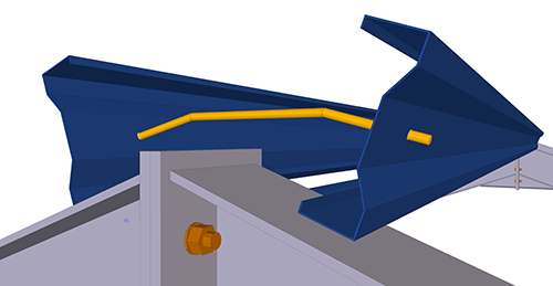 Tekla Structures model after adding Kingspan Apex Ties (9)