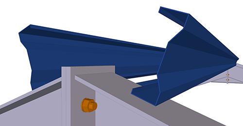 Tekla Structures model before adding Kingspan Apex Ties (9)