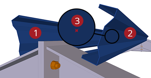 The order to select Tekla Structures model when adding Kingspan Apex Ties (9)