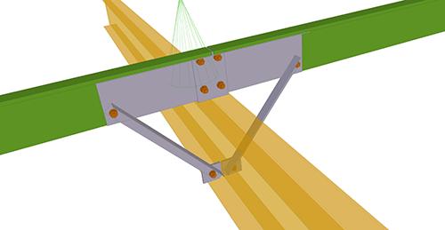 Tekla Structures model after adding Metsec Cold Rolled Sleeved (102)