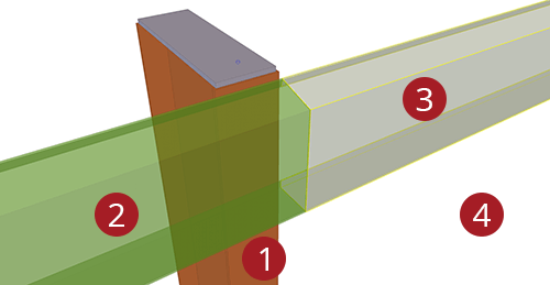 The order to select Tekla Structures model when adding Metsec Eaves Beam to Stanchion (104)