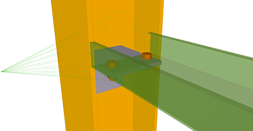 Tekla Structures model after adding Metsec Non-Continuous Rail (106)