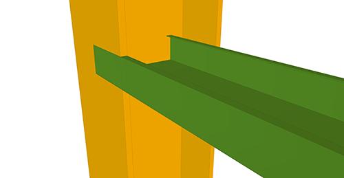 Tekla Structures model before adding Metsec Non-Continuous Rail (106)