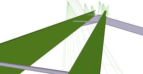 Tekla Structures model after adding Metsec Apex Tie Bay (12)