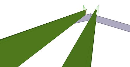 Tekla Structures model before adding Metsec Apex Tie Bay (12)