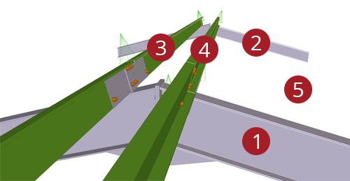 The order to select Tekla Structures model when adding Metsec Apex Tie Bay (12)