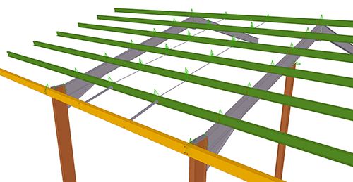 Tekla Structures model after adding BW Industries Standard Anti-Sag Bay (53)