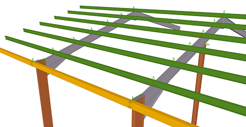 Tekla Structures model before adding BW Industries Standard Anti-Sag Bay (53)