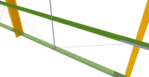 Tekla Structures model after adding Metsec Diagonal Ties (29)
