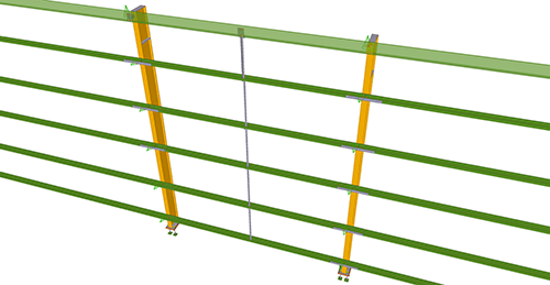 Tekla Structures model after adding Metsec Side Rail Supports (28)
