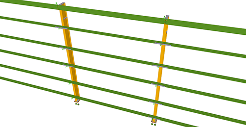 Tekla Structures model before adding Metsec Side Rail Supports (28)