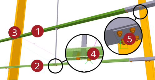 The order to select Tekla Structures model when adding Metsec Diagonal Ties (29)