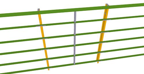 Tekla Structures model after adding Metsec Standard Horizontal Cladding Support (31)