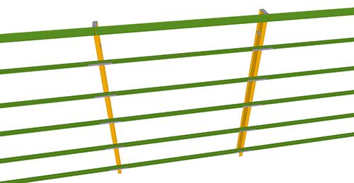 Tekla Structures model before adding Metsec Standard Horizontal Cladding Support (31)