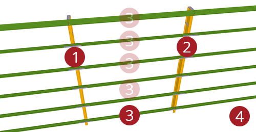 The order to select Tekla Structures model when adding Metsec Standard Horizontal Cladding Support (31)