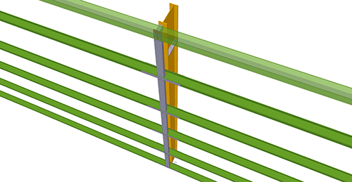 Tekla Structures model after adding Metsec Horizontal Cladding Support Column (33)