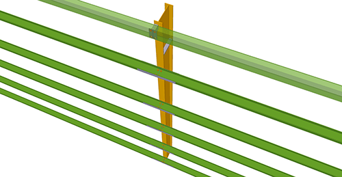 Tekla Structures model before adding Metsec Horizontal Cladding Support Column (33)